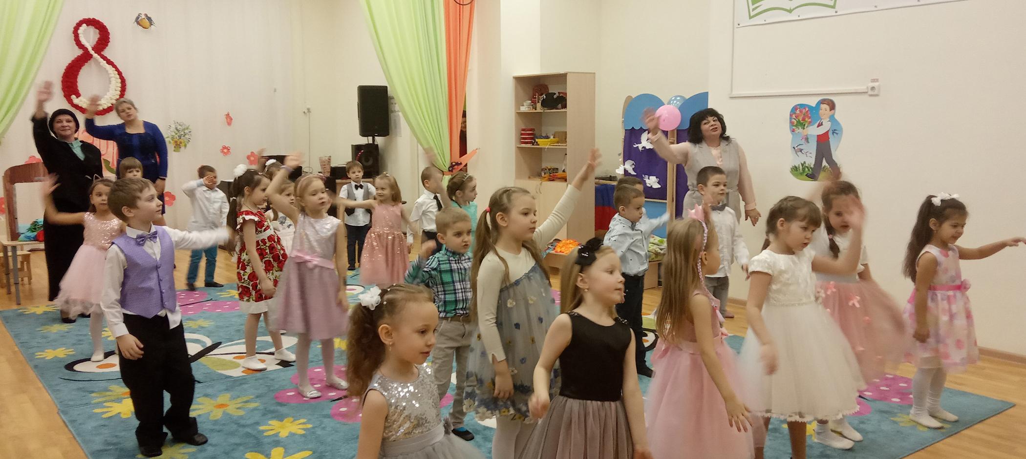8 марта: праздник в дошкольных отделениях